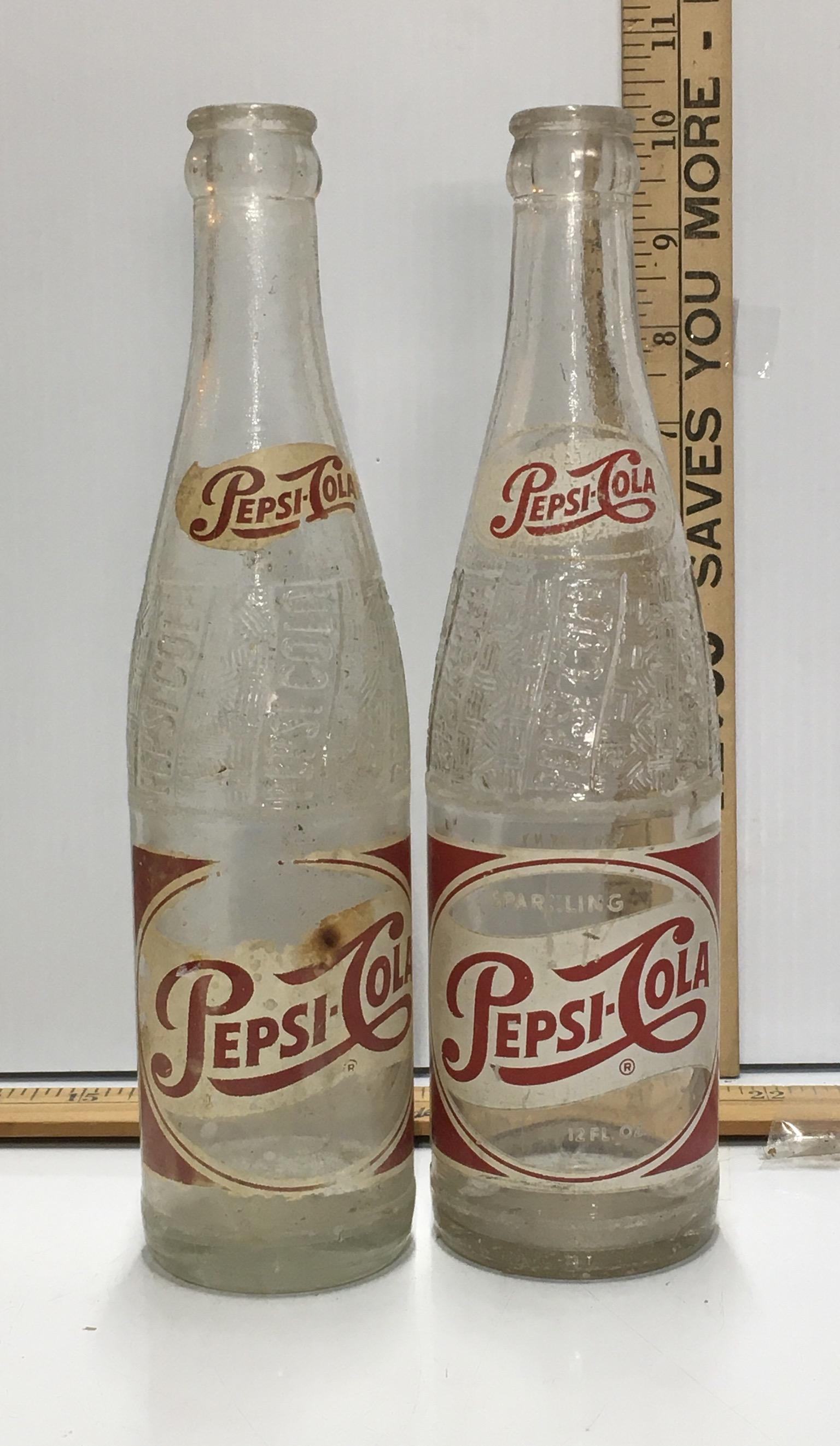 Pair of Vintage Pepsi Bottles - buyitnam.com