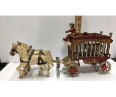Vintage Overland Circus Cast Iron Wagon